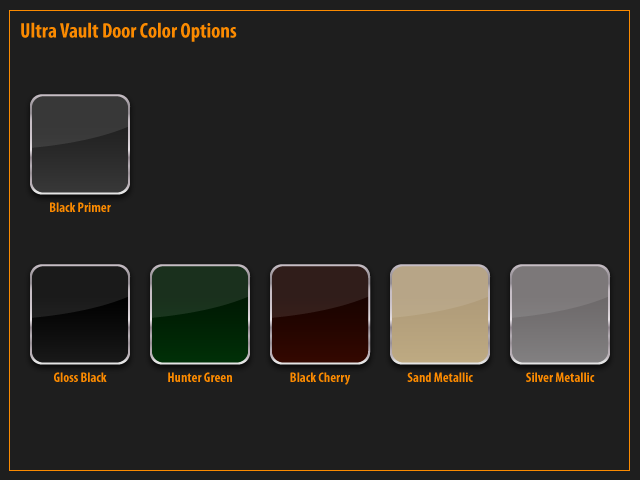 ProSteel Vault Door Colors